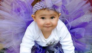 Ballerina baby with headband